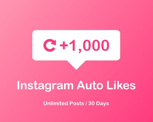 1000 Instagram auto likes