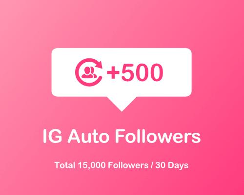 500 Instagram auto followers
