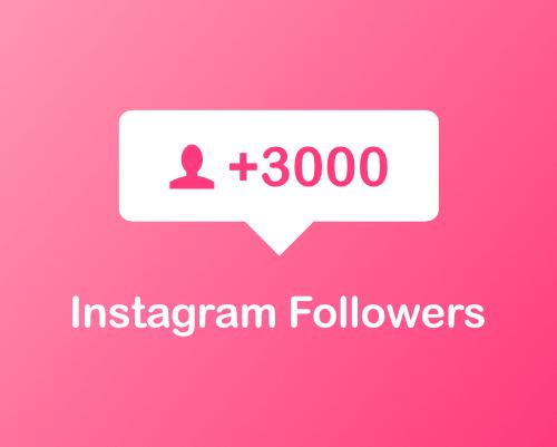 Buy 3000 Instagram followers